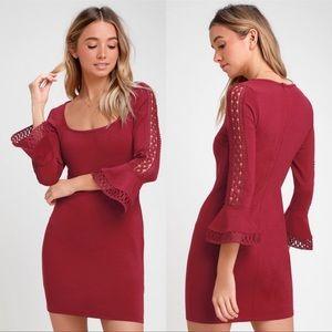 LULU'S red bodycon dress